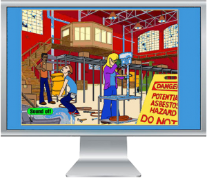 Animated quiz on worker safety
