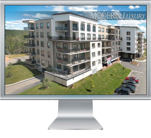 Photo-intensive website for new apartment building