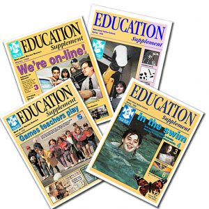 Design, stories and pix for schoolboard newsletter