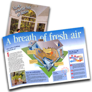 Brochure with infographic on fresh air system